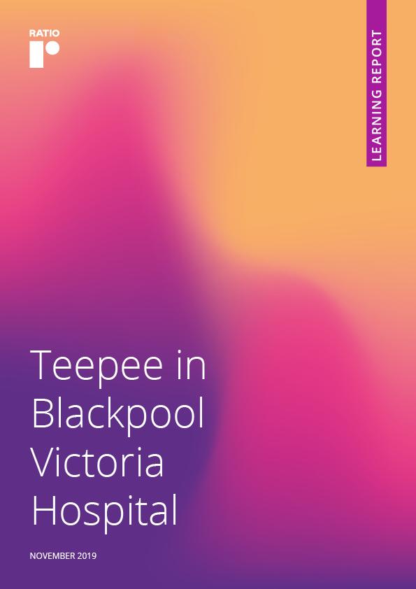 Teepee in Blackpool Victoria Hospital